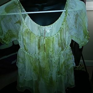 Sheer Swirl Top New With Tags